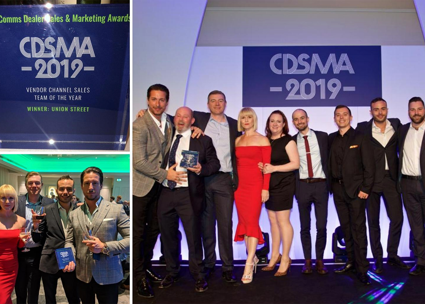 Union Street team at the CDSMA Awards 2019