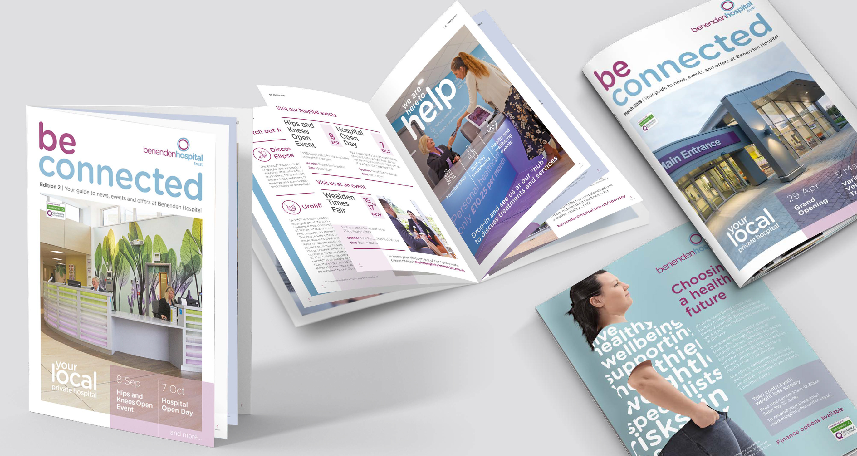 Benenden Hospital's be connected magazine