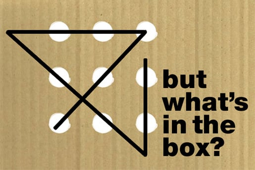 The words 'But what's in the box?'