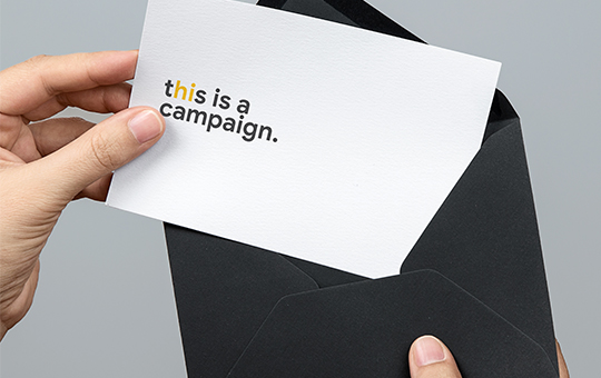 A campaign direct mail