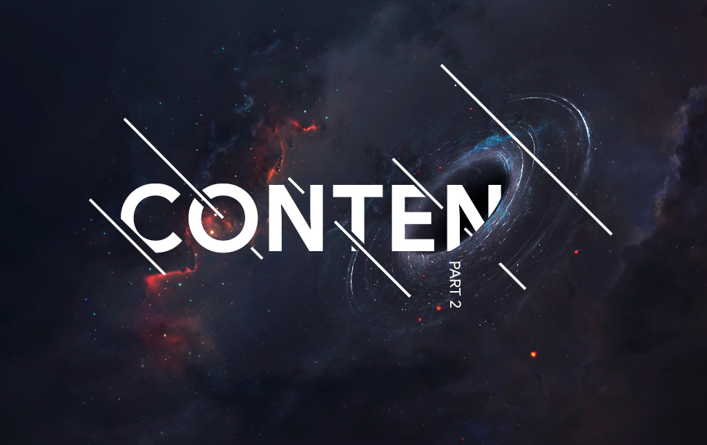 The word 'Content' disappears into a black hole