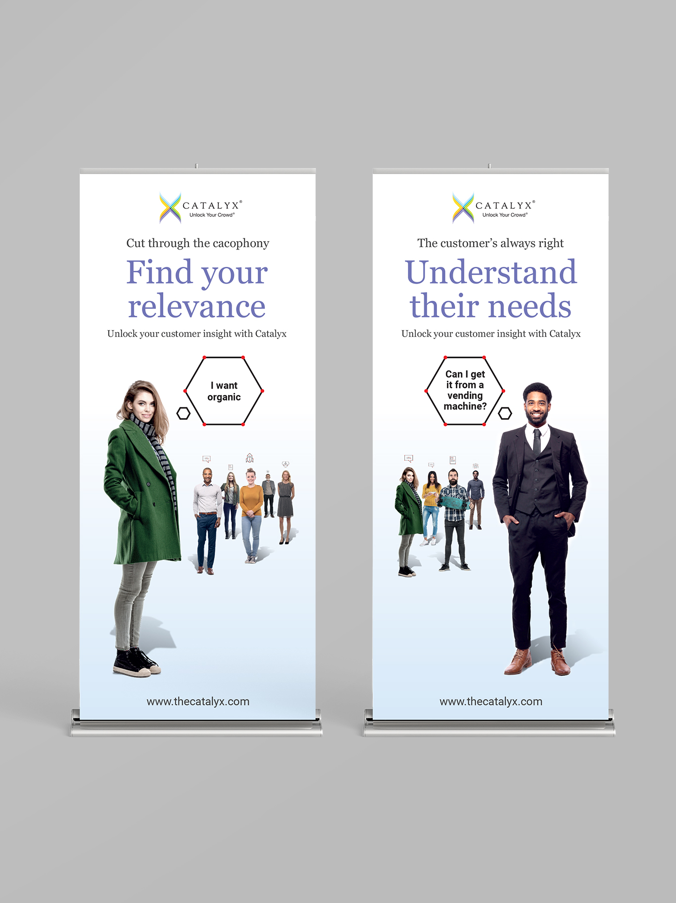 Catalyx pull-up banners